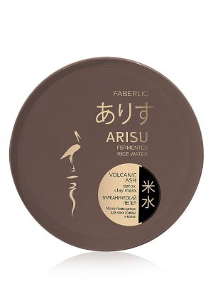 Маска-глина-детокс для кожи головы и волос Вулканический пепел Arisu